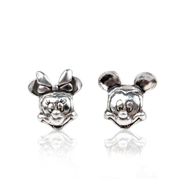 top popular Start 20pcs Mick Mini Alloy Charm Bead Loose Big Hole Fashion Women Jewelry Stunning European Style For DIY Bracelet Necklace 2019