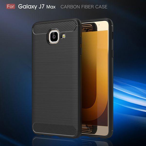Funda de fibra de carbono para Samsung Galaxy J7 Max G530 Grand Prime J2 J1 Mini Prime C9 Pro C7 C5 Silicona cepillada contraportada suave