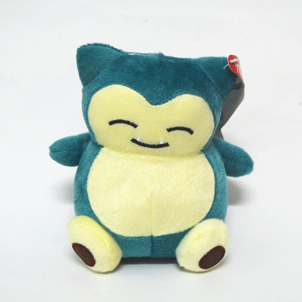 New Cute Pocket Monster Snorlax Stuffed Plush Toys Doll 15cm (6inch) Cartoon Animal Figure Toys For Baby Gifts