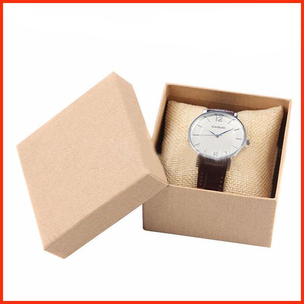 scatole di orologio singolo sacco singolo orologio da polso casi cuscino gioielli collezione contenitori per l'immagazzinamento scatole per container 230133