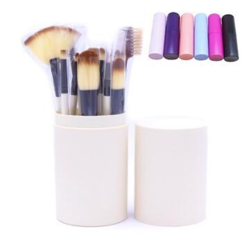 12pcs/set Eye Makeup Brushes Sets Eyeshadow Eyeliner Blending Pencil Cosmetic Brush Tools Kit Makeup Brush Set With Round Box CCA8046 30set