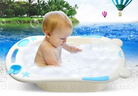 Baby bath pot thickened children bathing bucket child bath basin ...