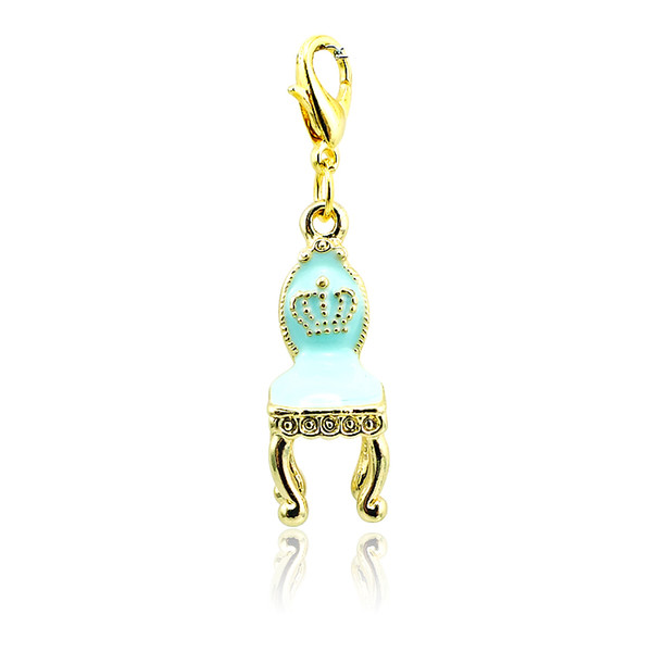Fashion Lobster Clasp Charms High Quantity 4 Color Gold Plated Enamel Chair Charms DIY Jewelry Accessories