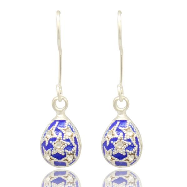 Women fashion jewelry cute handmade star design Faberge egg drop earrings color enameled ladies graduation Christmas gifts