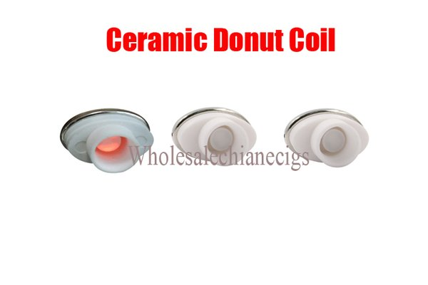 2016 full ceramic dual ceramic donut atomizer coil for elips micro gpen cloud pen ceramic electronic cigarette 0.5-0.7ohm for Box Mod