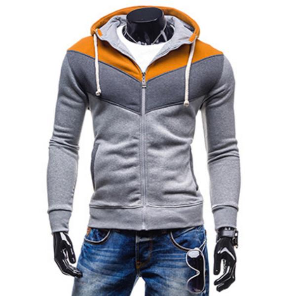 Felpa da Uomo//più sottili sweater//maglione//Con Cappuccio Pullover Grigio M L XL Nuovo