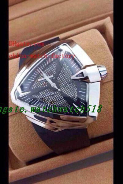 LUXURY WATCH Top Quality Limited Ventura XXL Stainless Steel Asia ETA 2824 Movement Black Rubber Strap Automatic Mens Watch Men's Wristwatch