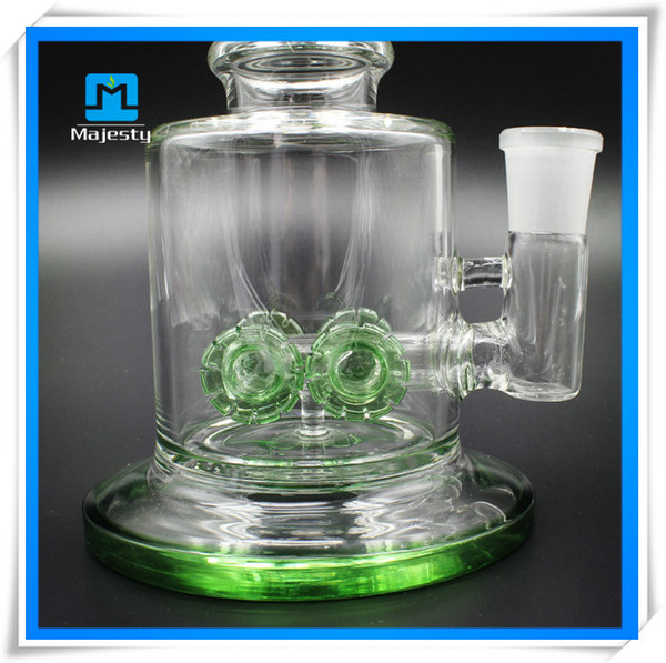 Factory outlets DIY Glass Bongs Recycler Water Pipe Glass Bong Oil Rigs Glass Water Filtration With Oil Rig herb bowl