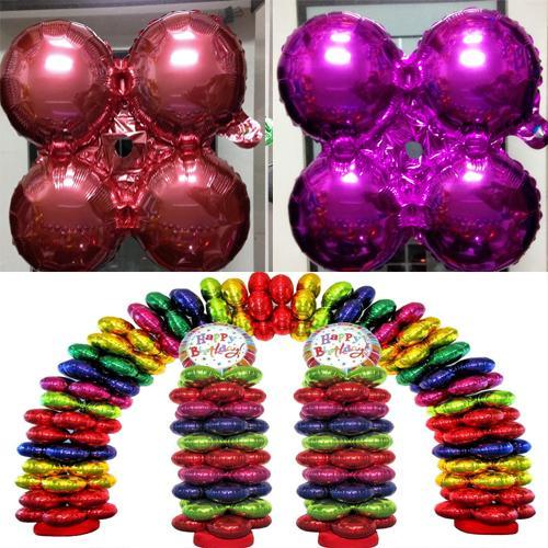Foil Balloon Elio metallizzato per la decorazione di festa di compleanno nuziale gonfiabile Ballons 18 pollici 45cm 9 colori E467L