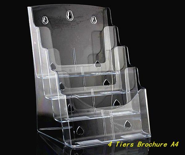 Temizle A4 Dört Katlı Broşür Broşür Edebiyat Plastik Akrilik Ekran Tutucu Express Tarafından 2 adet Masaüstüne Broşür ...