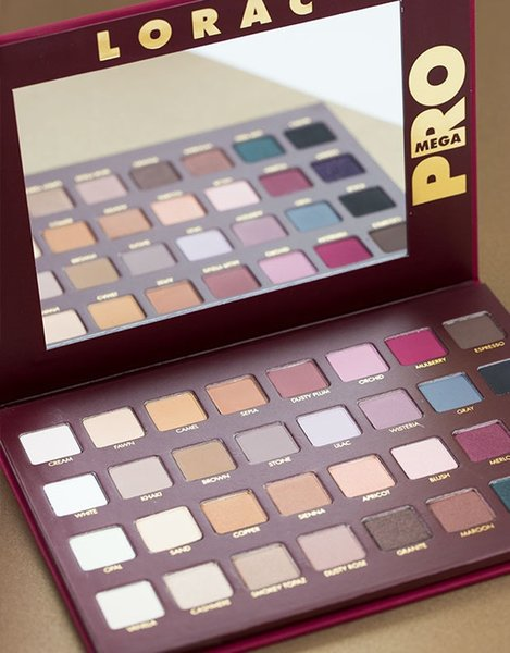 2014 NEW Arrival Lorac mega pro palette eyeshadow makeup set 32 color eye shadow palettes cosmetics