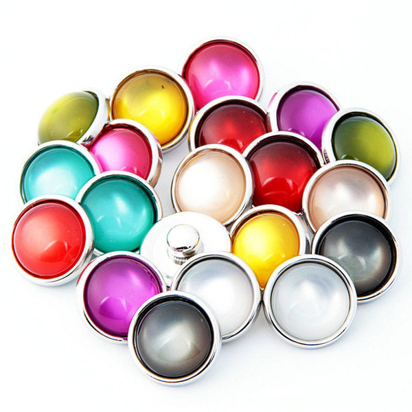 top popular NOOSA Amsterdam Vintage Opal Candy Color 12mm Noosa Interchangeable Snap Button DIY Jewelry Accessory Ginger Snap Jewelry Clasps 2021