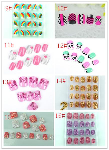 best selling Rainbow cloud children false nail nails, nail patch nail nails