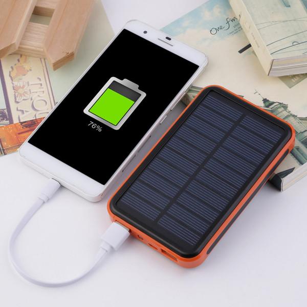 Новый 100000 мАч Водонепроницаемый Портативный Солнечной Энергии Банк Dual USB Солнечное Зарядное Устройство для сотового телефона tinyaa