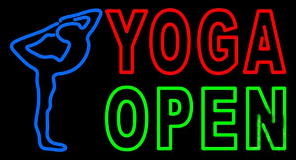 """Yoga Open Neon Sign Custom Handmade Real Glass Tube Store Shop Wellness Services Health Training Advertising Display Neon Signs 17""""X10"""""""
