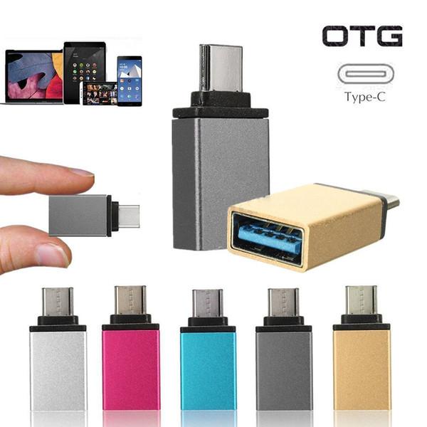 USB 3.0 hembra a USB 3.1 Tipo C Convertidor macho USB-C Adaptador OTG de aluminio para Google Pixel C, tableta Nokia N1
