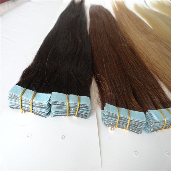18 20 22 24 Inch Malaysian Virgin Ombre Tape Hair Extension 6a Tape