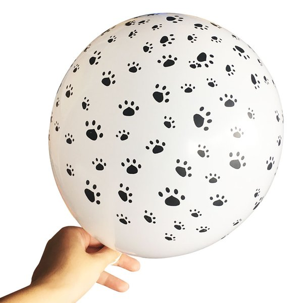 Cat Dog Paws Patrol Latex Balloons wedding Birthday Party Decoration Supplies Paw Print Balloon Kid Gift Baby shower Toy