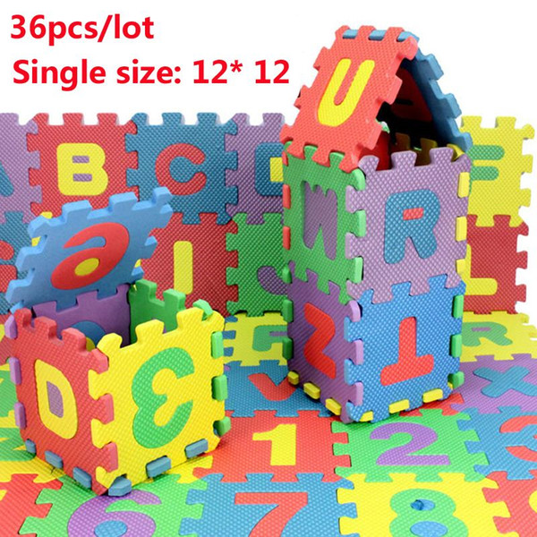 best selling Environmentally Baby Carpet Puzzle 36pcs lot Tapete de Atividades Alfombra Puzzle Eva,Baby Play Mat Puzzle Foam Floor 12*12cm