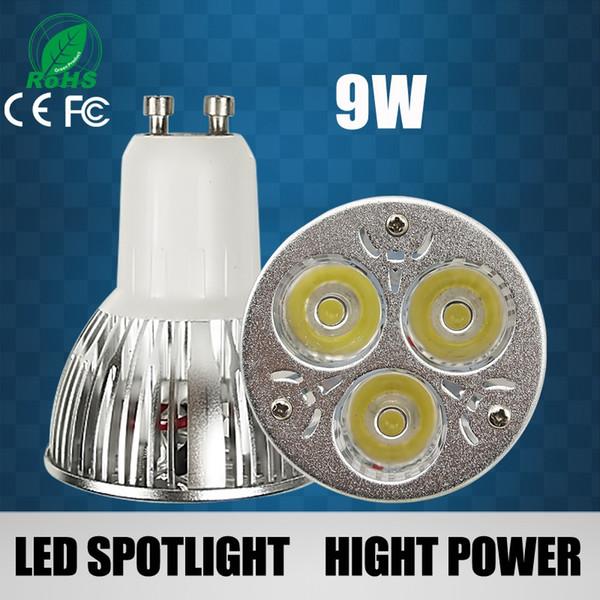 Sıcak satış led spot ışık GU10 3w / 9w / 12w / 15W led ampüller lambalar 110-240V yıldırım sıcak / soğuk beyaz led