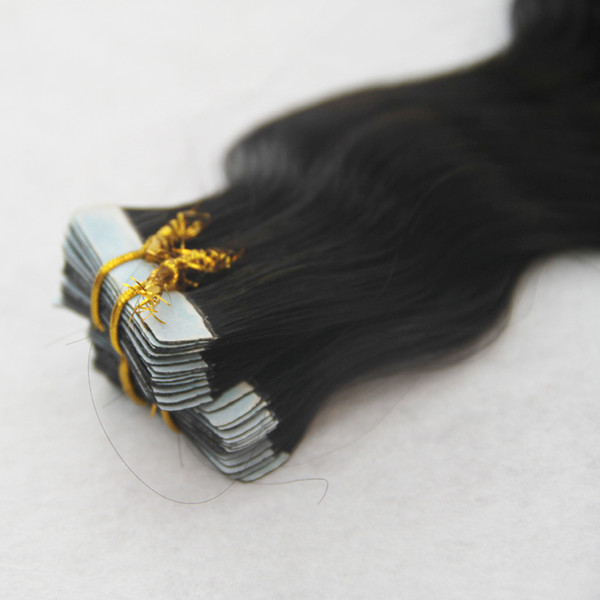 Jet Black Color Brazilian Body Wave Hair Weaving 100% Brazilian Human Hair Weave 10-30 Inchs Brazilian Skin Weft Tape Hair Weaving