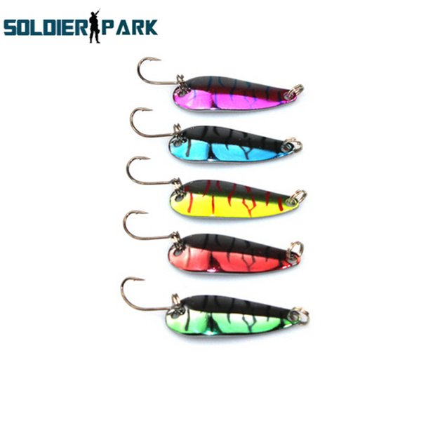 10pcs/lot Sinking 4.2CM Vertical Knife Lure Tackle Jigging Metal Spoon Artificial Bait Boat Ocean Fishing Jig Lures Lead Fish order<$18no tr