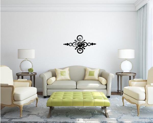Clock Wall Art modern design luxury mirror wall art clock decal 3d best wall