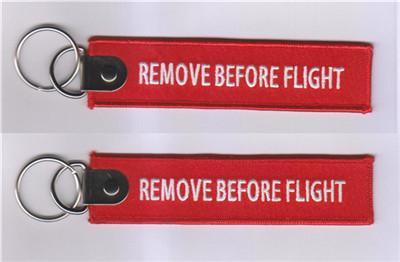 Fácil de Viagem Remover Antes Do Vôo Da Chave Da Cadeia de Bagagem Tag Zíper Puxar Tecidos Bordados Chaveiro Chaveiro 139x31mm 100 pcs muito