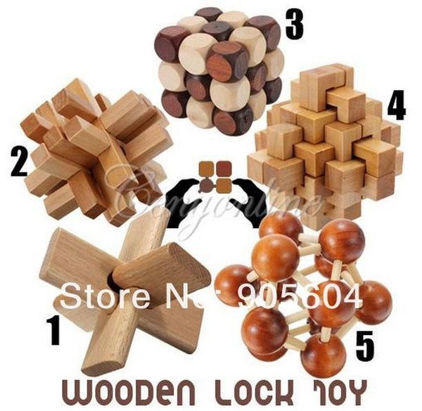 top popular Funny Chinese Traditional Wooden Educational Toys for Adult Children Intelligence Education Puzzle Lock Kids baby wood Toys 2019