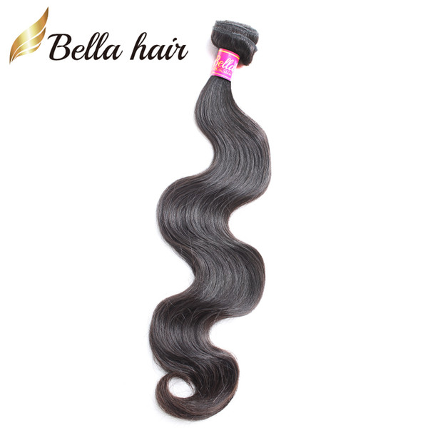 best selling Bella Hair Bundles Body Wave Brazilian Malaysian Peruvian Indian Hair Extensions Unprocessed Virgin Human Hair Weaves 1pc Drop Shipping