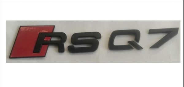 Matte Black RS Q7 ABS Number Letters Trunk Emblems Badge Sticker for Audi RSQ7