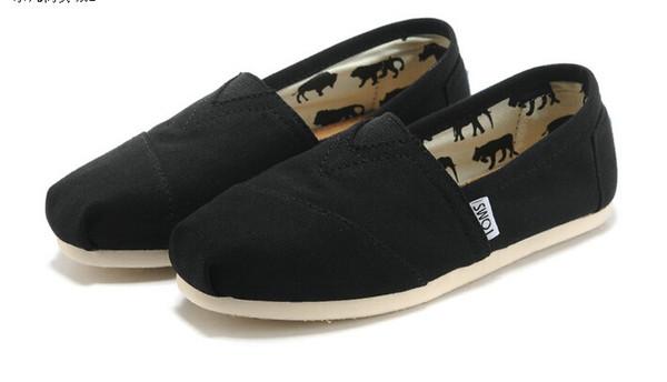 2018 sıcak marka yeni kadın erkek kanvas ayakkabılar flats loafer'lar rahat tek ayakkabı katı sneakers Sürüş ayakkabı unisex tom espadrille Yürüyüş ayakkab ...