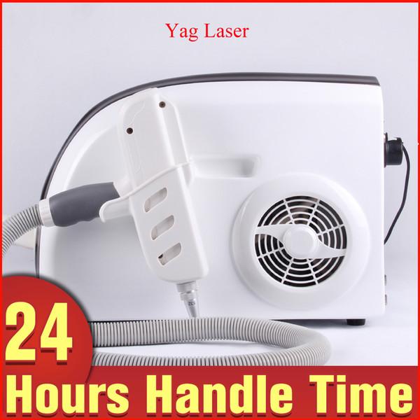 Nueva carga ND Yag láser eliminación de tatuajes Q Switch pigmento línea de labios eliminación máquina 1064nm 532nm