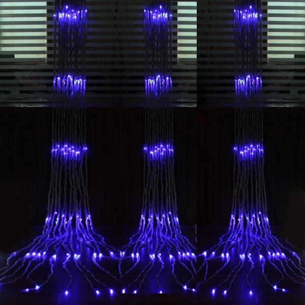 6 m * 3 m 640 Led Cascada Cuerda Cortina Luz Leds Flujo de agua Fiesta de bodas de Navidad Decoración navideña Luces de hadas a prueba de agua