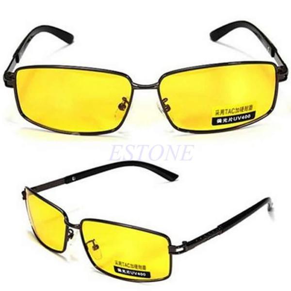 Freies Verschiffen-gelbe Objektiv-Nachtsicht-polarisierte Sonnenbrille, die UV 400 Eyewear-Gläser fährt, bestellen Spur $ 18no