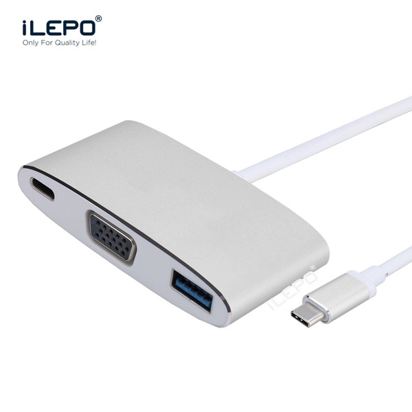 USB 3.1 Type c hub to VGA 1080p HD Cable Converter Output Male to Female Adapter for PC Monitor Projector TV Xbox