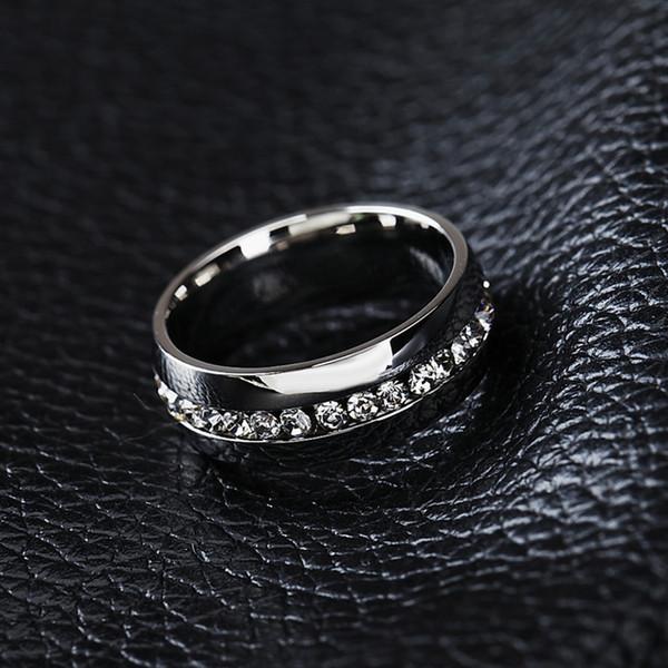 Großhandels10pcs Klassische Ringe, Modeschmuck, Verlobung, Hochzeit Geschenk Ringe Kanal-Set Eternity 316L Edelstahl-freies Shipp