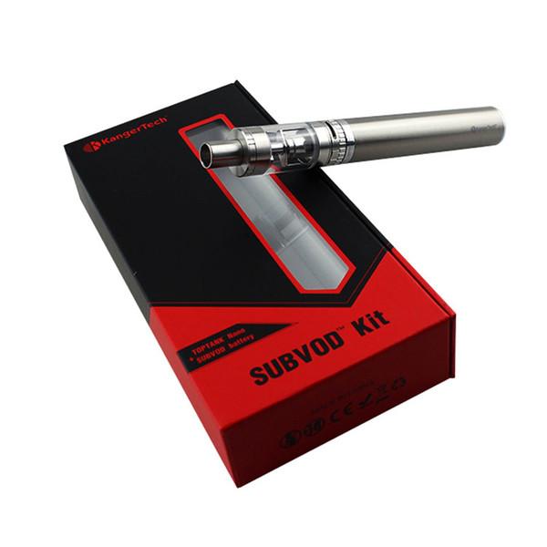 Kanger Subvod Starter Kit 1300mAh Battery With Toptank Nano 3.2ml Top Filling Atomizer Vs Ego One Vt Kit DHL Free