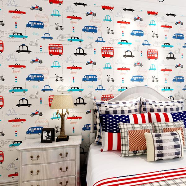 Großhandel Umweltfreundliche T Vliestapete Kinderzimmer Tapete Cartoon Auto  Junge Kind Tapete Von Wallpaperroll, $34.18 Auf De.Dhgate.Com | Dhgate