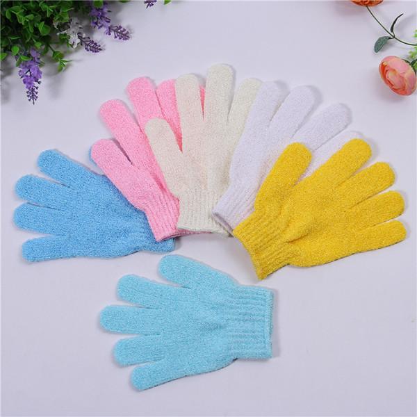 best selling 100Pcs lot Exfoliating Bath Glove Five fingers Bath Gloves