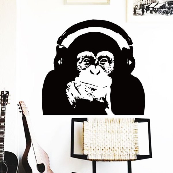 wall art horse home decoration Vinyl Caesar monkey music Wall Sticker Rise of the Planet of the Apes orangutan room decor decals