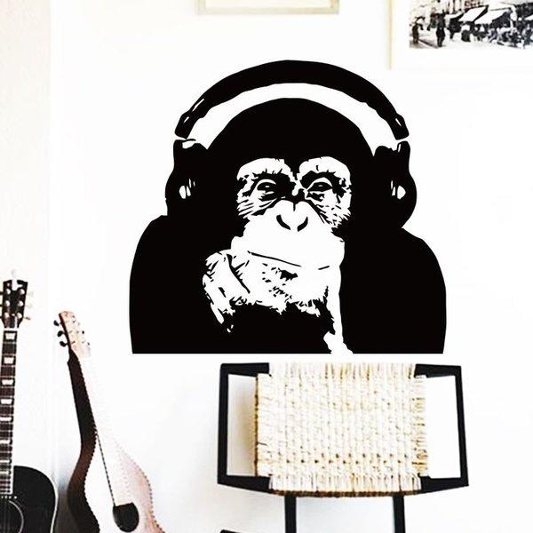 Wandkunst Pferd Home Dekoration Vinyl Caesar Affe Musik Wandaufkleber Aufstieg des Planeten der Affen Orang-Utan Zimmer Dekor Aufkleber