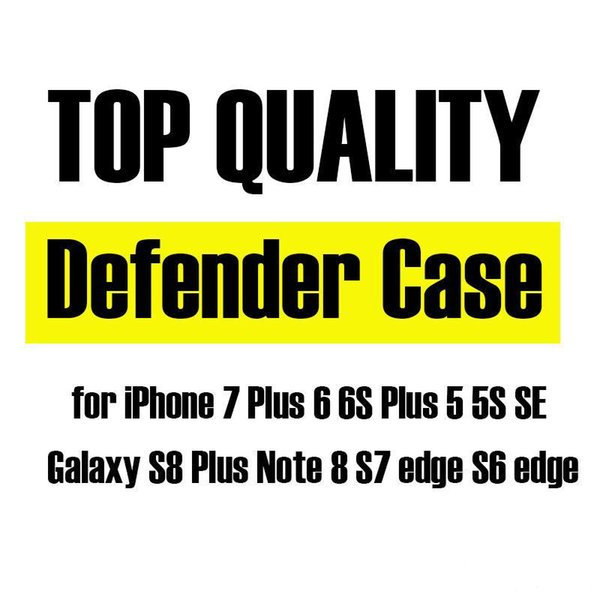 Top Quality Hybrid Defender Case for iPhone 7 Plus 6 Plus IPHONE X Galaxy S8 Plus Note 8 S7 edge S6 edge Shockproof Cases Dual Layer Cover