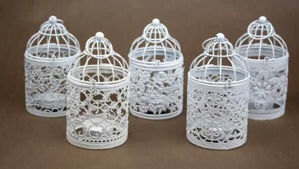 top popular New Arrive Bird Cage Decoration Candle Holders Bird Cage Wedding Candlestick 2021