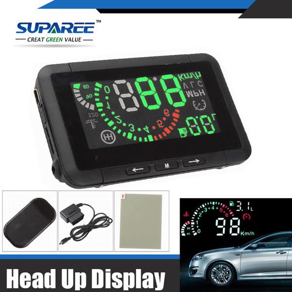 Großhandels-Heißeste 1 gesetzte Auto-HUD Head Up-Anzeige Fahrzeug-angebrachtes Sicherheitssystem OBD2 Schnittstelle Überdrehzahl-warnender Kraftstoffverbrauch W01