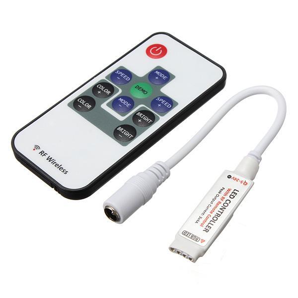 RGB RF Contrôleur Dimmer Switch Télécommande Sans Fil 3 Canaux DC5-12V 10Keys pour 5050 3528 Led lampes de bande Éclairage