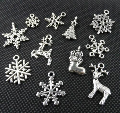 220PCS Mixed Tibetan Silver Christmas Suit Charms Pendant For Jewelry Making Free