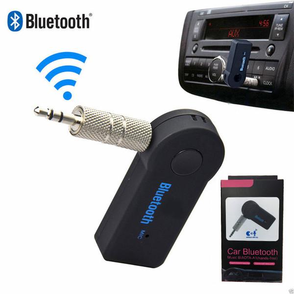 Heißer Verkauf Wireless AUX Bluetooth Empfänger für Auto Kopfhörer Lautsprecher 3,5 mm Bluetooth Audio Music Adapter Jack mit Mikrofon