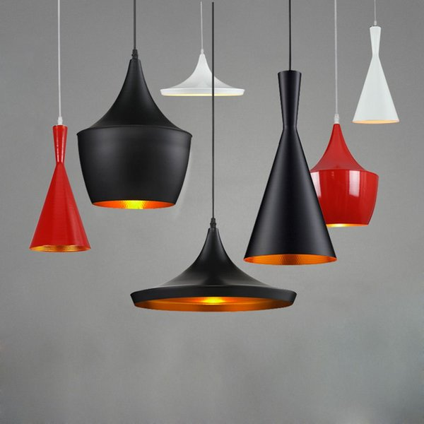 2015 Hot Sales Tom Dixon Design LED Light Lamp E27 bulb Black/White musical instrument restaurant & Home ceiling Pendant lamp A+B+C per set