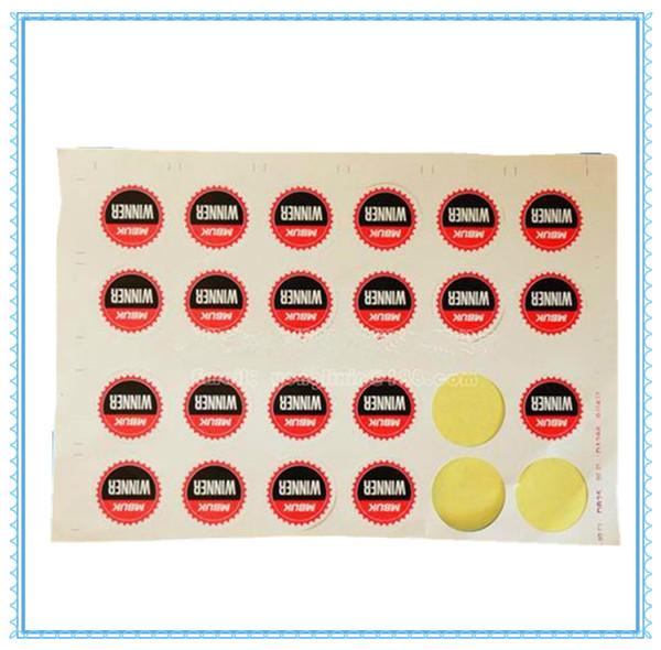 étiquette personnalisée en vinyle imprimé autocollant